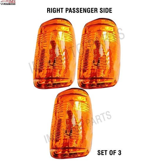 FORD TRANSIT 150 250 350 MIRROR INDICATOR LENS ORANGE RIGHT PASSENGER SIDE SET OF 3 2014 TO 2018