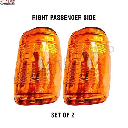 NEW FORD TRANSIT 150 250 350 MIRROR INDICATOR LENS ORANGE RIGHT PASSENGER SIDE SET OF 2 2014 TO 2018