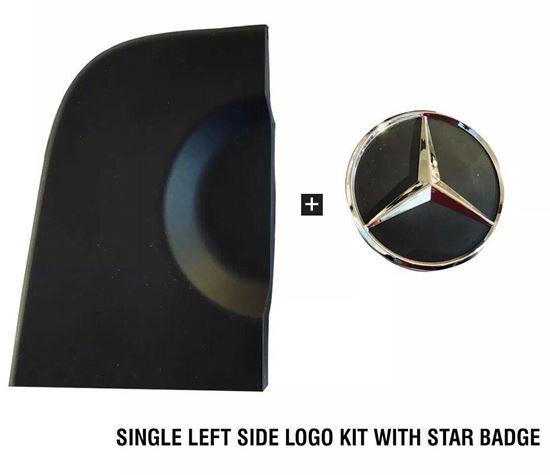 MERCEDES SPTINTER BACK DOOR BASE LOGO KIT PART WITH STAR EMBLEM BADGE LEFT 2006 TO 2017