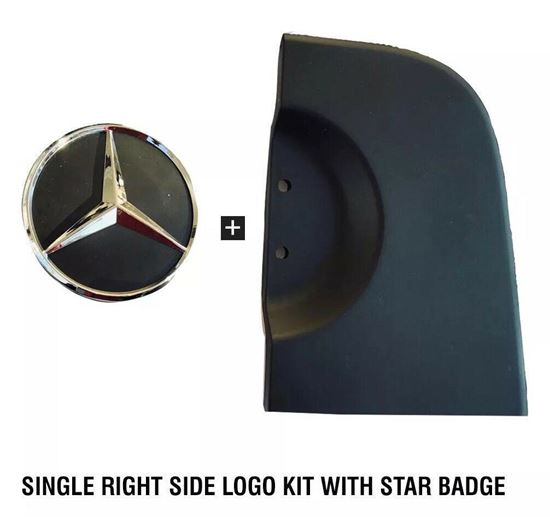 MERCEDES SPRINTER BACK DOOR BASE LOGO KIT WITH STAR BADGE EMBLEM RIGHT SIDE 2006 TO 2017