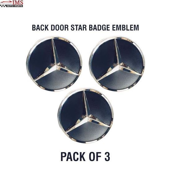 MERCEDES BENZ SPRINTER W906 BACK DOOR STAR BADGE EMBLEM ADHESIVE SET OF 3 2006 TO 2017