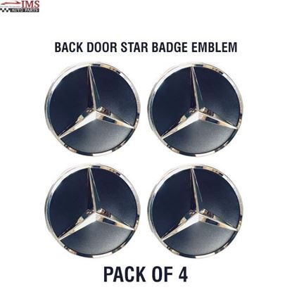 MERCEDES BENZ SPRINTER W906 BACK DOOR STAR BADGE EMBLEM ADHESIVE SET OF 4 2006 TO 2017