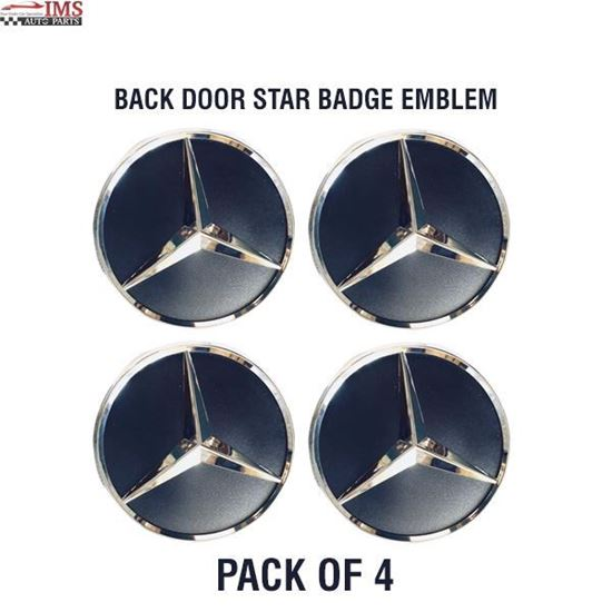 MERCEDES BENZ SPRINTER W906 BACK DOOR STAR BADGE EMBLEM ADHESIVE SET OF 4 2006 TO 2017