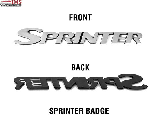 "Mercedes Sprinter, Self Adhesive Rear "" SPRINTER "" Badge Exterior Signs Decals"