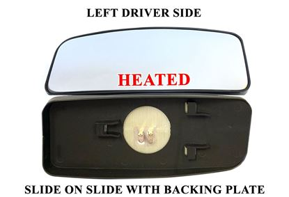 Mercedes Sprinter Mirror Small Glass Blind Spot Slide On Heated Left Driver 2007 To 2017