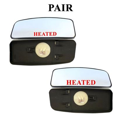Mercedes Sprinter Mirror Small Glass Blind Spot Slide On Heated Pair 2007 To 2017