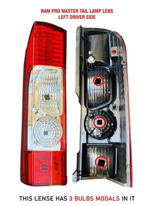 New Ram ProMaster Tail Light Lamp Lens Assembly Left Driver Side 2014 To 2018