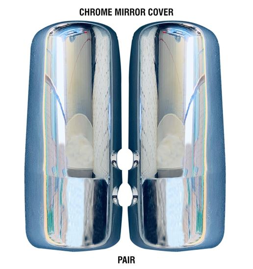 New kenworth Truck T680 T880 Chrome Mirror Cover Left Driver And Right Passenger Pair 2013 To 2018