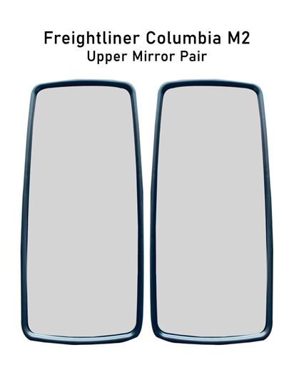 Freightliner Columbia M2 Chrome Mirror Glass Heated Left Driver And Right Passenger Side Pair 2010 To 2016