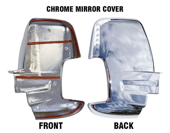 Ford Transit 150 250 350 Chome Mirror Cover Adhesive Right Passenger Side 2014 To 2018