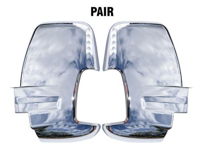 Ford Transit 150 250 350 Door Mirror Cover Chrome Adhesive Left Driver and Right Passenger Side Pair 2014 To 2018