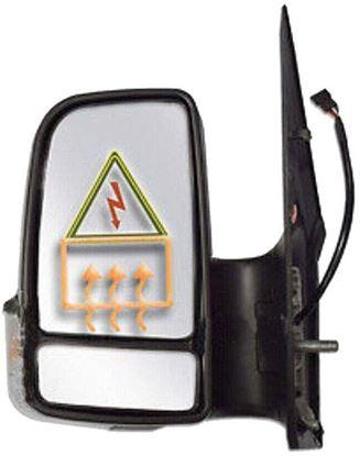 Dodge Sprinter 250 350 Side Mirror Power Mirror Heated Short Arm Left Driver Side 2007 To 2016