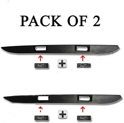 Dodge Sprinter 250 350 Rear Door Number Plate Strip With 4 Light Lamp Pack of 2 2007 To 2016