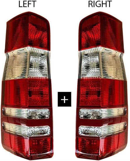 Dodge Sprinter 250 350 Rear Back Tail Light Lens Right Passenger And Left Driver Side Pair 2007 To 2017