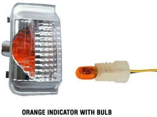 Ram Promaster Mirror Turn Signals Orange Indicator Lens Left Driver With Bulb 2014 To 2015