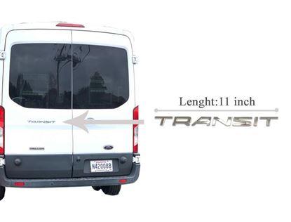 Ford Transit 150 250 350 Van Back Door Badge Emblem Adhesive Chrome 2013 To 2019