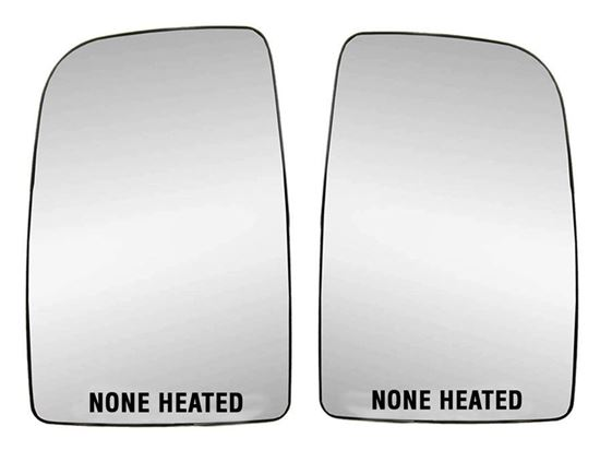 Mercedes Sprinter Mirror Large Glass With Back Plate None Heated Left Driver and Right Passenger Side 2007 To 2016