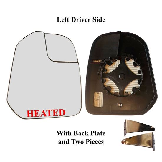 Ford Transit Connect Mirror Large Glass Power Heated Left Driver With Clip 2011 To 2013