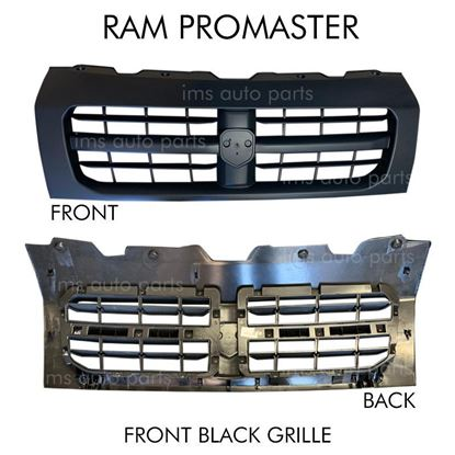 Ram Promaster 1500 2500 3500 Black Front Grille Radiator Assembly 2014 To 2018