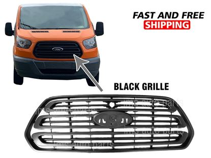 Ford Transit 1500 2500 3500 Front Grille Black Color With Camera Hole 2014 To 2017