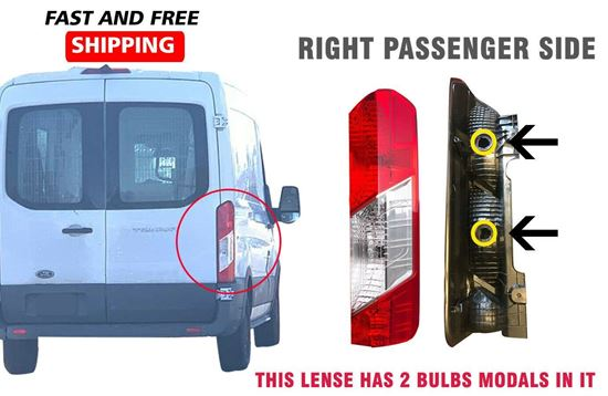 Ford Transit 150 250 350 Back Taillight Lamp Lens Right Passenger Side 2016 To 2018