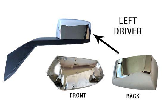 Volvo Vnl Vn Vnx Vhd 300 400 640 740 760 860 Hood Chrome Mirror Cover Left Driver Side 2016 to 2018