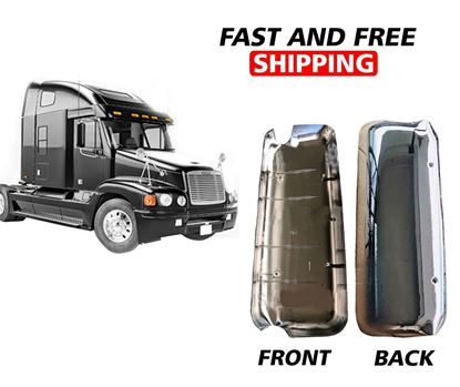 Freightliner Columbia Century Mirror Cover Chrome With CBR Hole Right Passenger Side 2005 To 2015