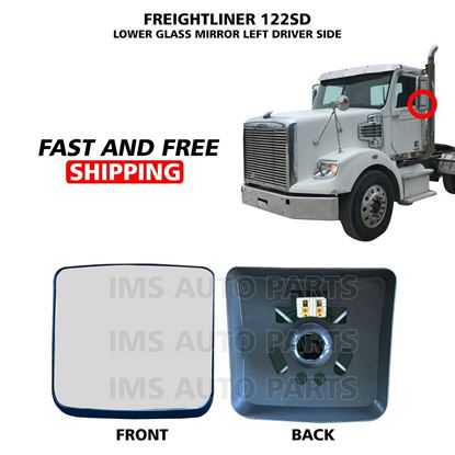 Freightliner 122 SD Mirror Glass Heated Small Lower Left Driver Side 2005 To 2019