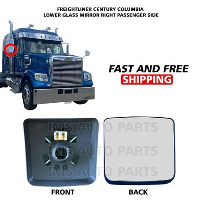 Freightliner Columbia Century Mirror Glass Small Heated Right Passenger Side 2005 To 2015