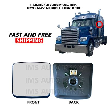 Freightliner Columbia Century Mirror Glass Small Heated Left Driver Side 2005 To 2015