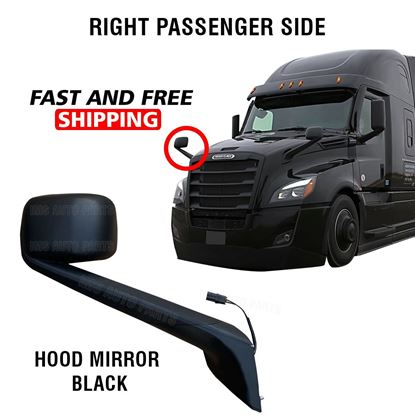 Freightliner Cascadia Black Hood Mirror Electric Heated Right Passenger Side 2018 To 2020