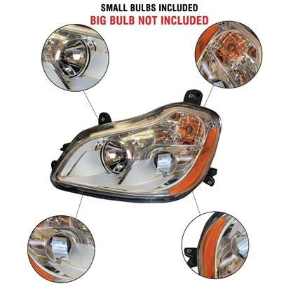 Kenworth T680 Chrome Projector Headlight Assembly With Position Left Driver Side 2010 To 2019
