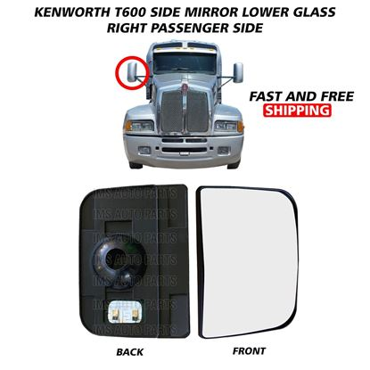 Kenworth T600 T660 T800 Lower Small Glass Mirror Heated Right Passenger Side 2008 To 2016
