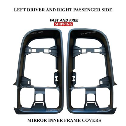 Mercedes Sprinter Mirror Inner Bezel Frame Cover Right Passenger and Left Driver Side Pair 2019 To 2020