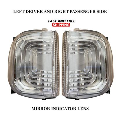 Mercedes Sprinter Mirror Indicator White Lens Clear Right Passenger and Left Driver Side Pair 2019 To 2020