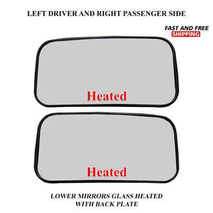 Mercedes Sprinter Lower Small Glass Mirror Heated Right Passenger and Left Driver Side Pair 2019 To 2020