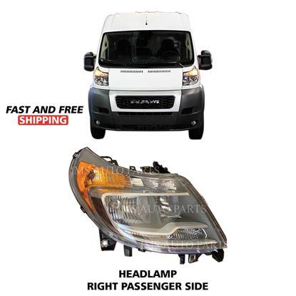 Ram ProMaster Brand New Halogen Headlight Lamp Right Passenger Side 2014 To 2019