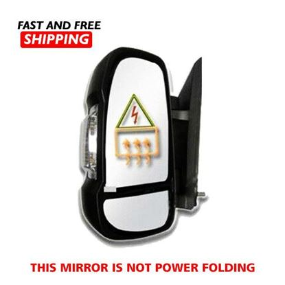 Dodge Ram Promaster 150 250 350 Mirror Electric Short Arm Left Driver 2014 To 2019