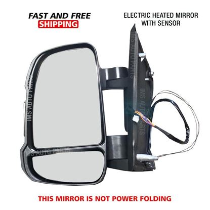 Dodge Ram Promaster 2500 3500 Mirror Short Arm Heated With Sensor Left Driver Side 2014 To 2019